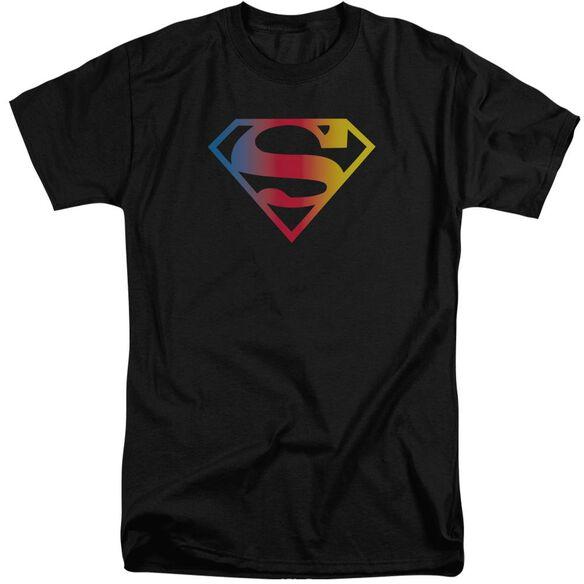 Superman Gradient Superman Logo Short Sleeve Adult Tall T-Shirt
