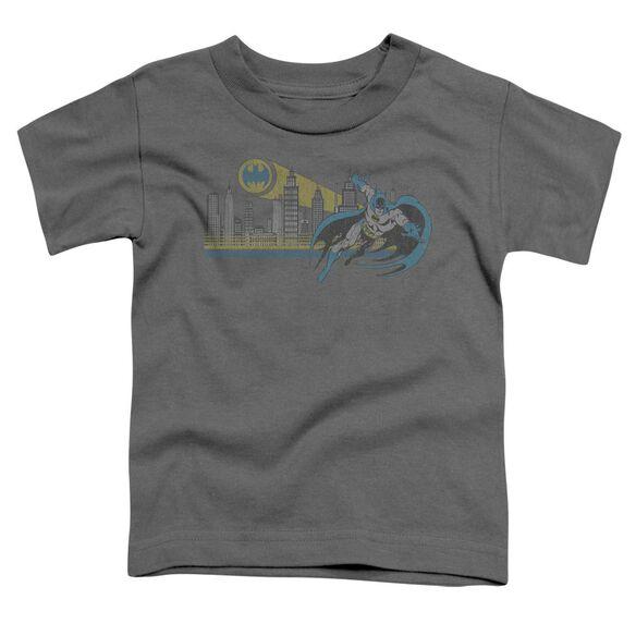 Dc Gotham Retro Short Sleeve Toddler Tee Charcoal T-Shirt