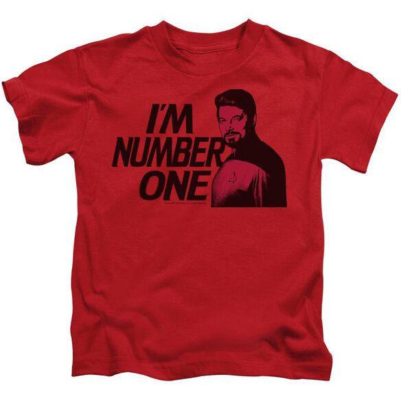 Star Trek Im Number One Short Sleeve Juvenile Red T-Shirt