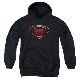 Justice League Movie Superman Logo Youth Pull Over Hoodie