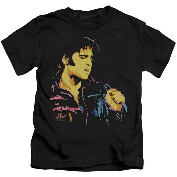 Elvis Neon Elvis Short Sleeve Juvenile Black T-Shirt