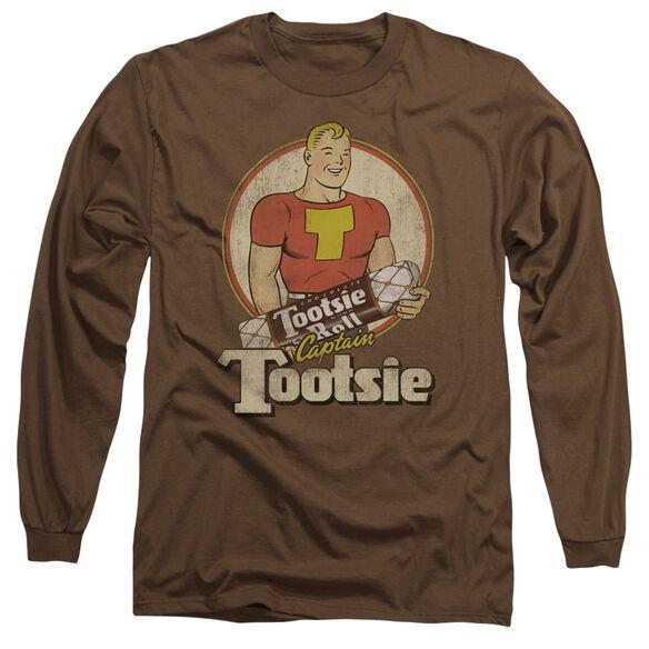 TOOTSIE ROLL CAPTAIN TOOTSIE - L/S ADULT 18/1 - COFFEE T-Shirt