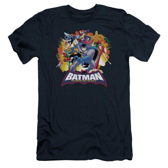 Batman Bb Explosive Heroes Short Sleeve Adult T-Shirt