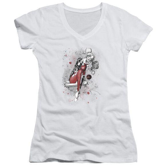 Jla Harley Sketch Junior V Neck T-Shirt