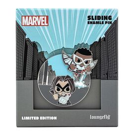 Loungefly Marvel Falcon & The Winter Soldier Limited Edition Collector Box Sliding Enamel Pin
