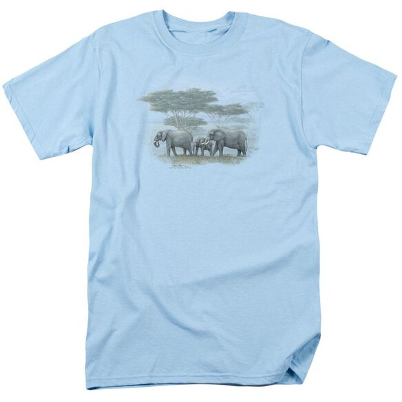 Wildlife Heart Of Africa Short Sleeve Adult Light Blue T-Shirt