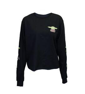 Star Wars The Mandalorian The Child Skimmer Black Long Sleeve T-Shirt