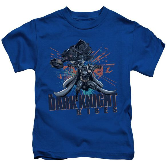 Dark Knight Rises Batwing Short Sleeve Juvenile Royal Blue T-Shirt