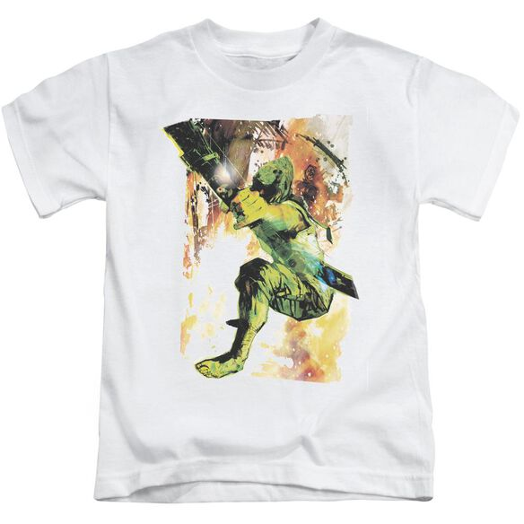 Jla Painted Archer Short Sleeve Juvenile T-Shirt