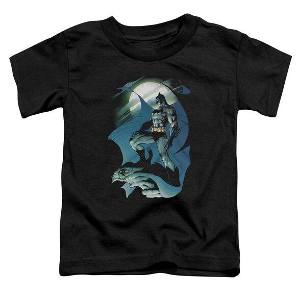 Batman Glow Of The Moon Short Sleeve Toddler Tee Black T-Shirt