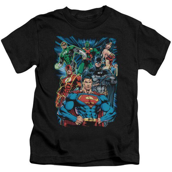 Jla Justice Is Served Short Sleeve Juvenile Black Md T-Shirt