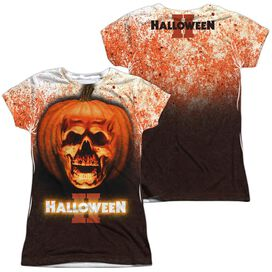 HALLOWEEN II PUMPKIN SKULL (FRONT/BACK T-Shirt