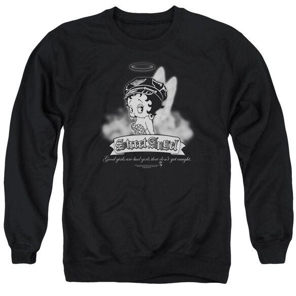 Betty Boop Street Angel Adult Crewneck Sweatshirt