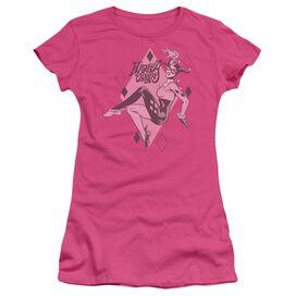 Dc Harley Quinn Short Sleeve Junior Sheer Hot T-Shirt