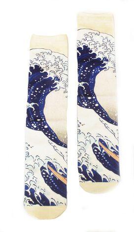 Great Wave Off Kanagawa Crew Socks