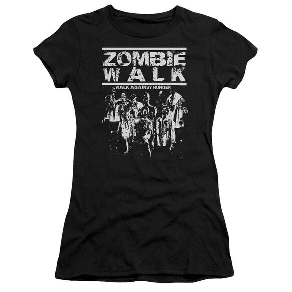 Zombie Walk Short Sleeve Junior Sheer T-Shirt