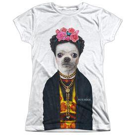 Pets Rock Fido Barko Short Sleeve Junior Poly Crew T-Shirt