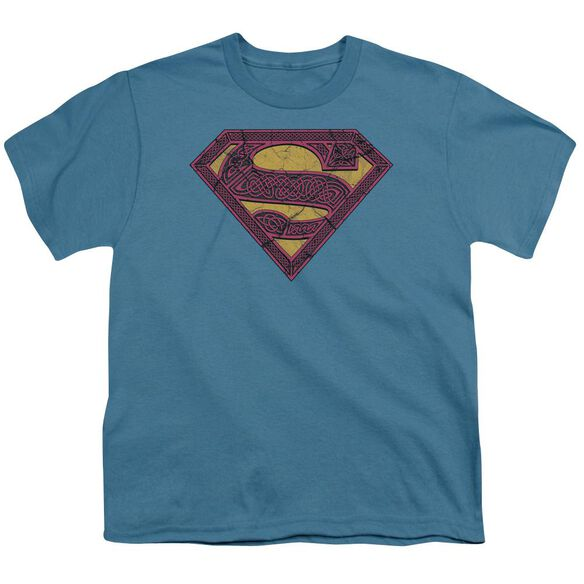Superman Celtic Shield Short Sleeve Youth T-Shirt