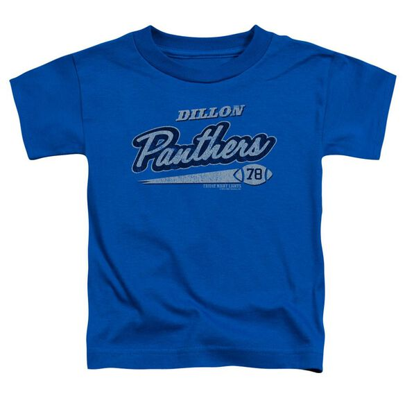 Friday Night Lights Panthers 78 Short Sleeve Toddler Tee Royal Md Royal Blue Md T-Shirt