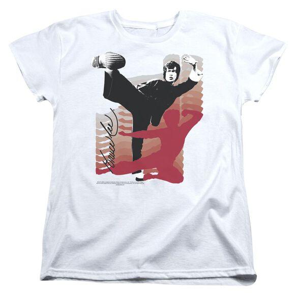 Bruce Lee Kick It Short Sleeve Womens Tee T-Shirt