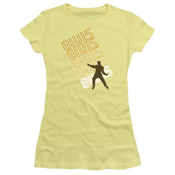 Elvis Pointing Short Sleeve Junior Sheer T-Shirt