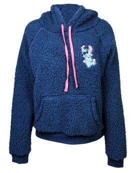 Stitch Half-Zip Sherpa Women's Hoodie