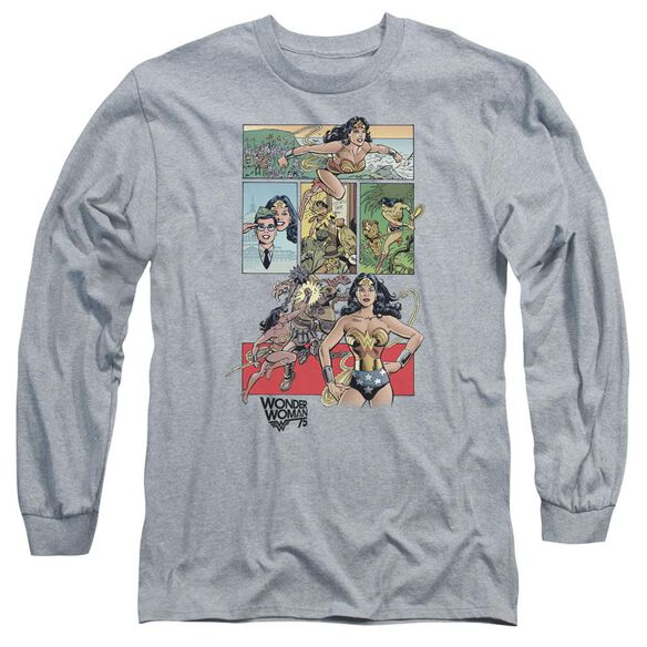 Wonder Woman Ww75 Comic Page Long Sleeve Adult Athletic T-Shirt