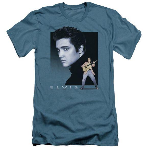 Elvis Blue Rocker Short Sleeve Adult T-Shirt