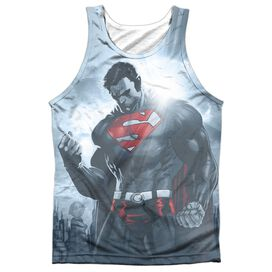 Superman Light Of The Sun Adult 100% Poly Tank Top