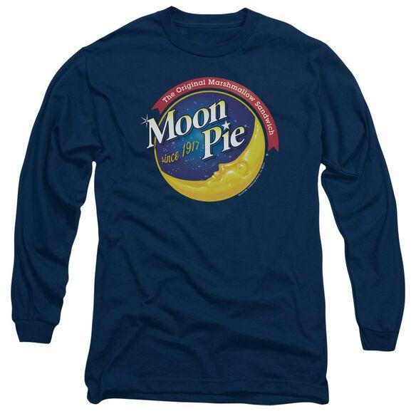 Moon Pie Current Logo Long Sleeve Adult T-Shirt