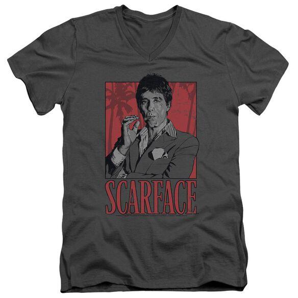 Scarface Tony Short Sleeve Adult V Neck T-Shirt