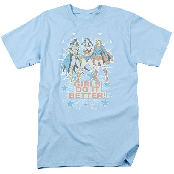 Dc Girls Do It Better Short Sleeve Adult Light Blue T-Shirt