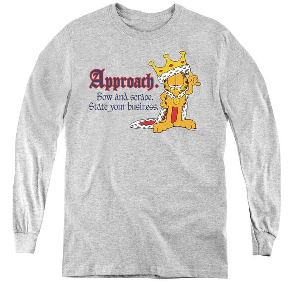 Garfield State Your Business - Youth Long Sleeve Tee - Athletic Heather