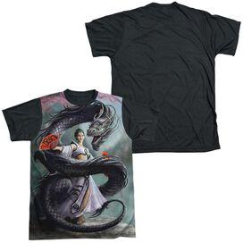 Anne Stokes Dragon Dancer Short Sleeve Adult Front Black Back T-Shirt