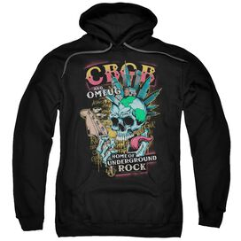 Cbgb City Mowhawk Adult Pull Over Hoodie