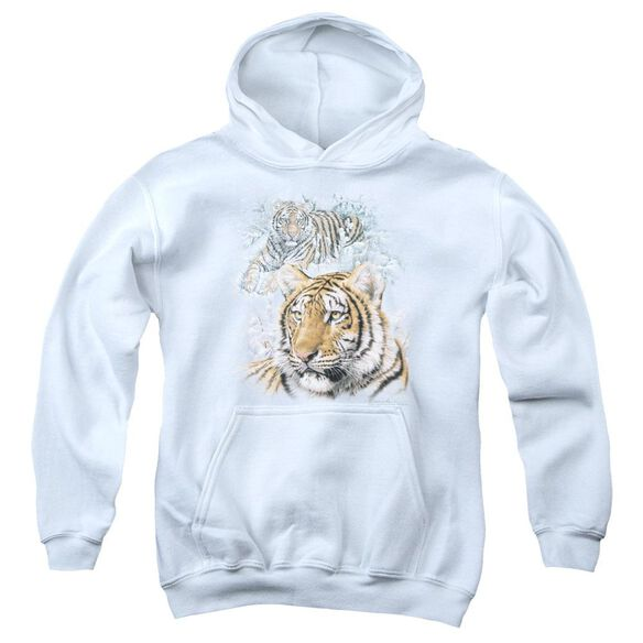 Wildlife Tigers Youth Pull Over Hoodie