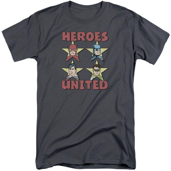 Jla United Stars Short Sleeve Adult Tall T-Shirt