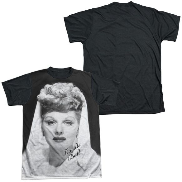 Lucille Ball Glamourous Short Sleeve Adult Front Black Back T-Shirt