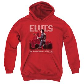 Elvis Presley Return Of The King-youth Pull-over Hoodie - Red
