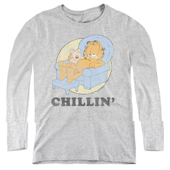 Garfield Chillin-womens Long Sleeve