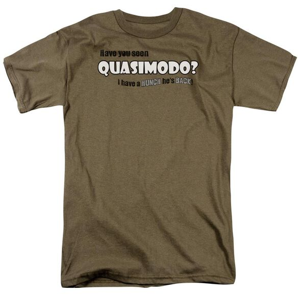 Quasimodo Short Sleeve Adult Safari Green T-Shirt