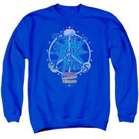 Smarties Peace Lollies Adult Crewneck Sweatshirt Royal