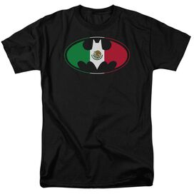 Batman Mexican Flag Shield Short Sleeve Adult T-Shirt