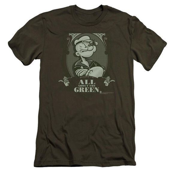 Popeye All About The Premuim Canvas Adult Slim Fit Military