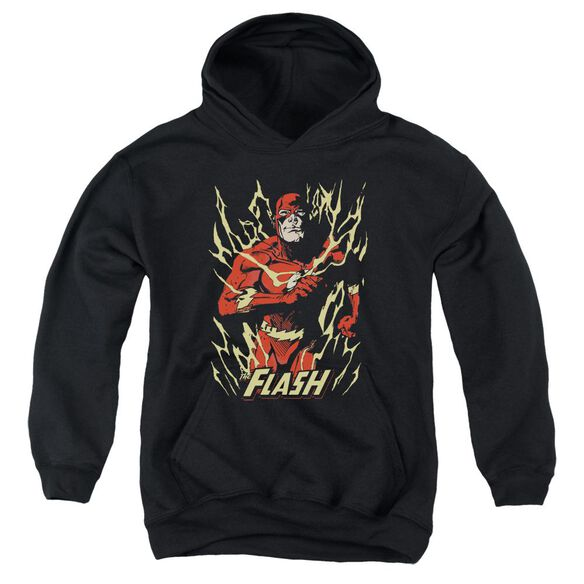 Jla Flash Flare Youth Pull Over Hoodie