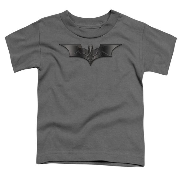 Dark Knight Carbon Fiber Shield Short Sleeve Toddler Tee Charcoal T-Shirt