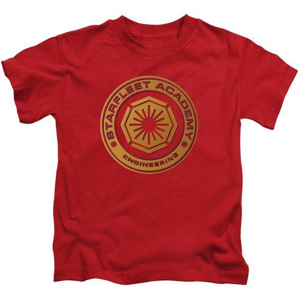 Star Trek Engineering Short Sleeve Juvenile Red T-Shirt