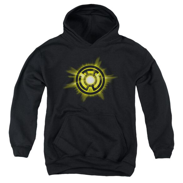 Green Lantern Yellow Glow Youth Pull Over Hoodie