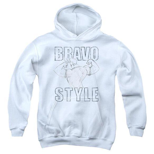 Johnny Bravo Bravo Style Youth Pull Over Hoodie