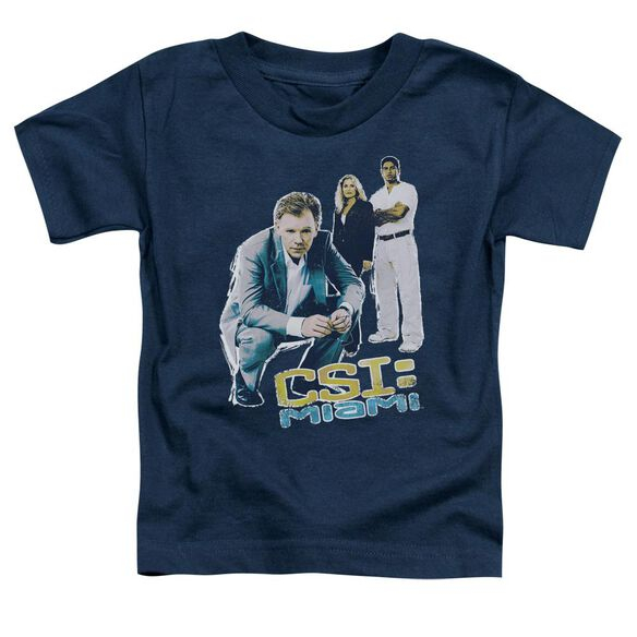 Csi:Miami In Perspective Short Sleeve Toddler Tee Navy Lg T-Shirt